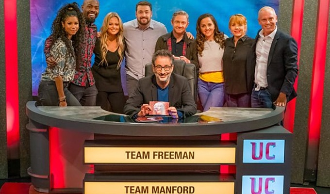 Darren and team for Comic Relief's University Challenge